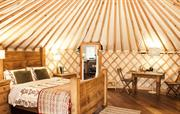 Stunning Yurt interior