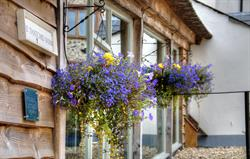 Thatched hanging baskets