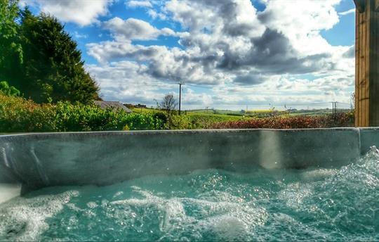 Private hot tub with a view...