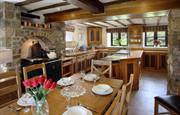 The Manor kitchen/dining with Aga