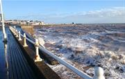 Bridlington stormy waves