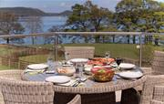 Dining on the terrace at Waternook