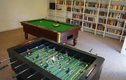 The games room with pool table