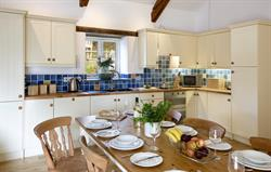 Fully fitted open-plan kitchen