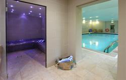 steam room and pool