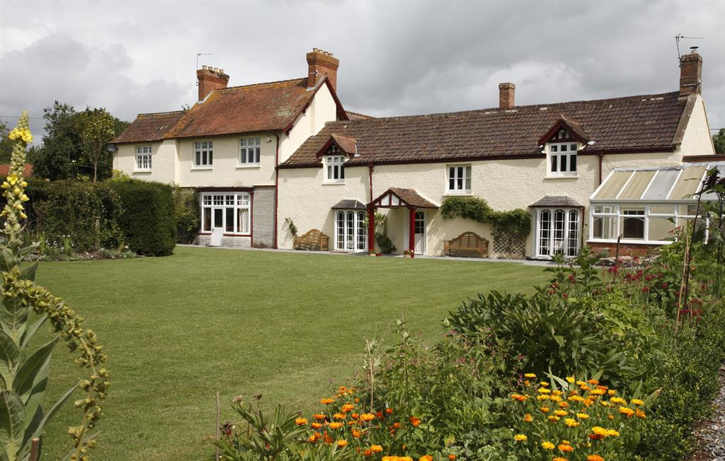 The house from the main garden