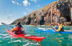Kayaking in Cardigan Bay