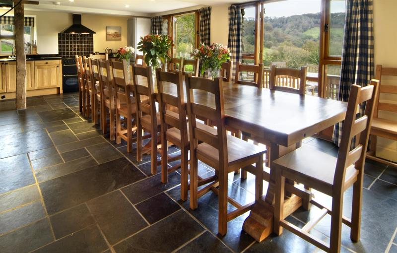 The Old Winery dining room