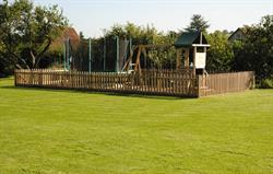 Climbing frame and trampoline