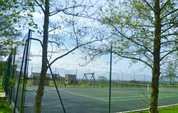 Tennis court, play area