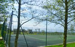 Tennis court & play area