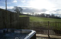 Gelt Cottage hot tub deck view