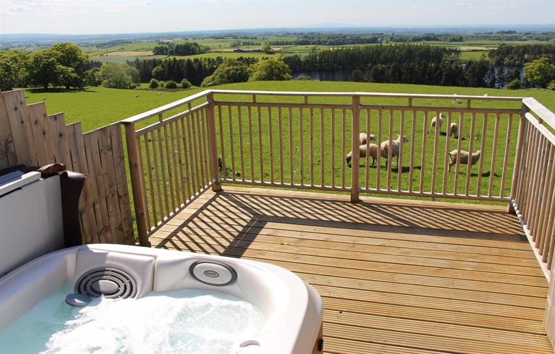 Gill hot tub stunning views