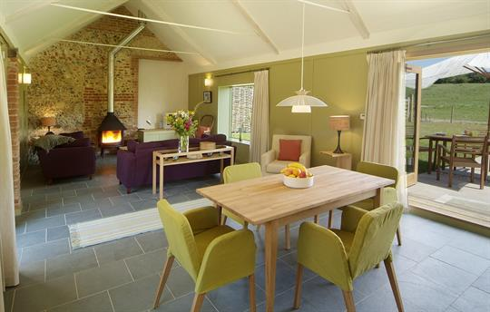 Little Barsham dining room
