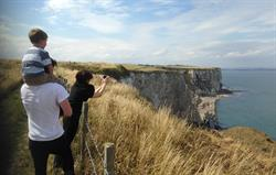 Summer on our cliff top land