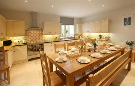 Kitchen In Lavender Barn