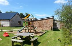 Play area at Lavender Barn