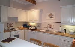 Fully fitted kitchen,door to garden