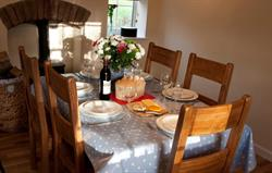 Dining Table at Railway Cottage