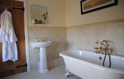 The roll top bathroom