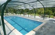 Swimming pool, sides open when sunn
