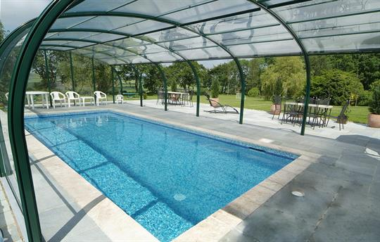 Swimming pool, sides open when sunny