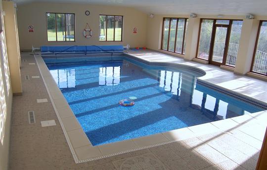 Fabulous indoor heated swimming pool