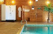 Indoor swimming pool shower & sauna