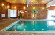 Indoor Swimming Pool, Shower and Sa