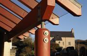 Porch detail, Ffos
