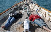 A tiring day at sea off Tenby