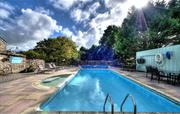 Heated outdoor pool at Broomhill