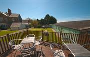 Sun terrace at Broomhill Manor