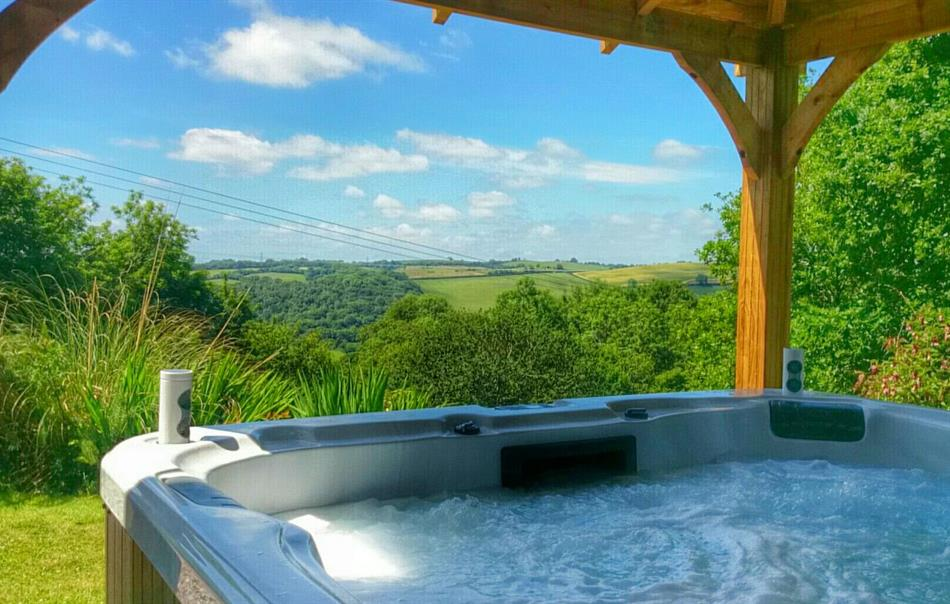 Great views from the hot tubs