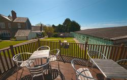 Sun terrace at Broomhill Manor