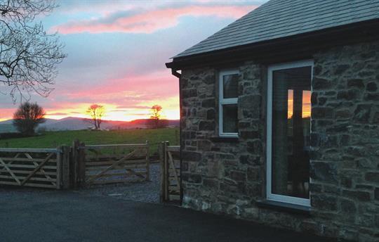 Sunset from Bwthyn Clychau'r Gog