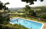 Our heated pool - with a view