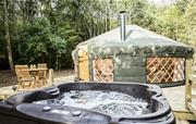 Hot tub at Maythorn Yurt