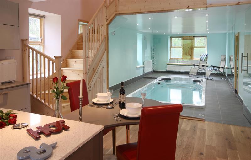 Retreat living/kitchen to Swimspa