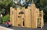 Childrens 2 storey wooden Play Fort