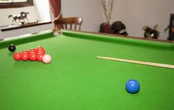 Snooker table at Betws Bach