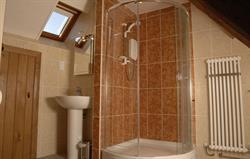 Shower room at Betws Bach Farmhosue
