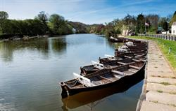 Rowing boats to hire at Ruswarp