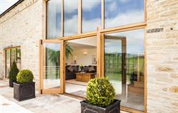 French doors onto patio from lounge