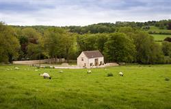 Monks Mill Barn in its surroundings