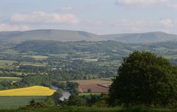 View from the footpath by Cwm Pelve