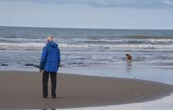 Sandy beach between Tywyn and Aberd