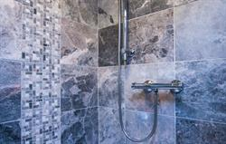 Decorative grey marble mosaics
