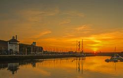 Sunset in Whitehaven Harbour