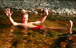 Relax in the River Esk rock pools